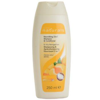 Avon Naturals Hair Care hranilni šampon in balzam za suhe in poškodovane lase