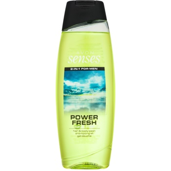 Avon Senses Power Fresh 2 in 1 gel de dus si sampon