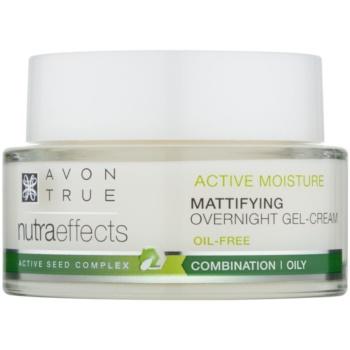 Avon True Nutra Effects crema gel mat de noapte fara grasimi