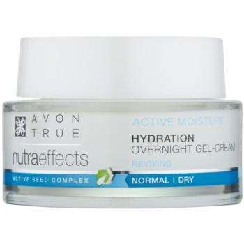 Avon True Nutra Effects Gel crema de noapte pentru hidratarea si netezirea pielii