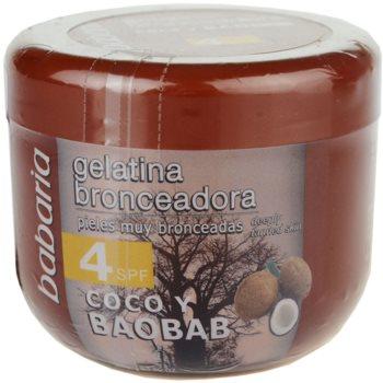 Babaria Sun Bronceador gel tonifiant cu nuca de cocos SPF 4