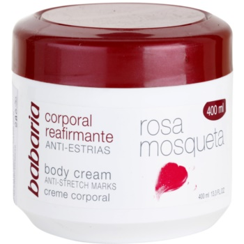 babaria rosa mosqueta crema de corp pentru fermitatea pielii cu extracte de trandafiri salbatici