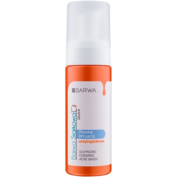Barwa Sulphur Quick spuma de curatare pentru pielea problematica