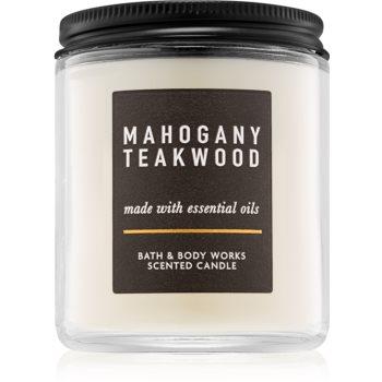 Bath & Body Works Mahogany Teakwood 198 g duftkerze  III. Duftkerze