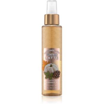 Bath & Body Works Marshmallow Pumpkin Latte spray pentru corp strălucitor pentru femei