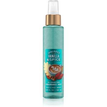 Bath & Body Works Whipped Vanilla & Spice spray pentru corp strălucitor pentru femei