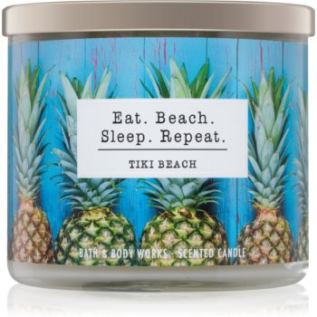 Bath & Body Works Tiki Beach lumanari parfumate 411 g I. Eat. Beach. Sleep. Repeat.