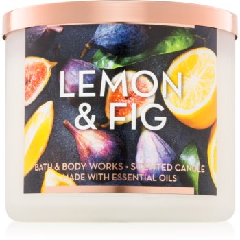 Bath & Body Works Lemon & Fig lumanari parfumate 411 g