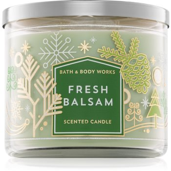 Bath & Body Works Fresh Balsam lumanari parfumate 411 g III.