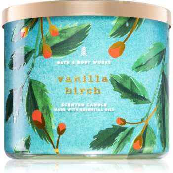 Bath & Body Works Vanilla Birch lumânare parfumată cu uleiuri esentiale