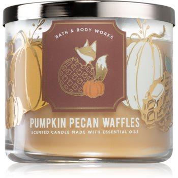 Bath & Body Works Pumpkin Pecan Waffles lumânare parfumată III