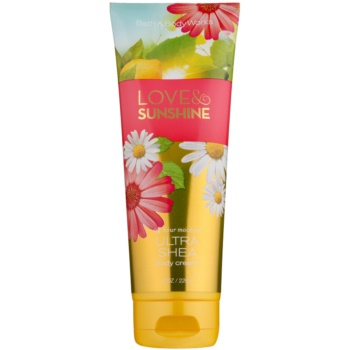 Bath & Body Works Love and Sunshine Body Cream for Women