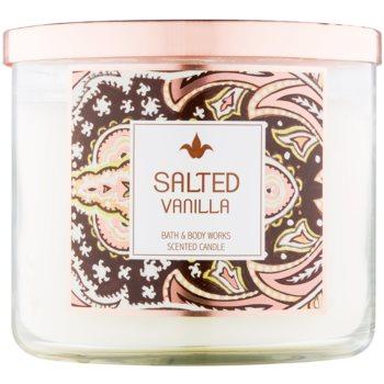 bath & body works salted vanilla lumanari parfumate 411 g
