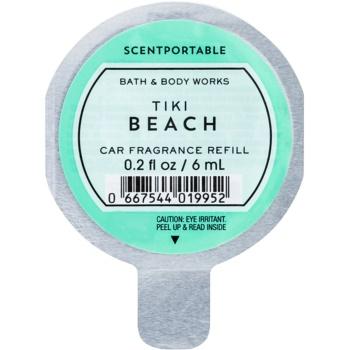 Bath & Body Works Tiki Beach parfum pentru masina 6 ml Refil