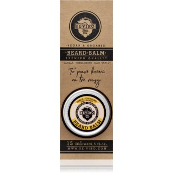 Beviro Men's Only Vanilla, Tonka Beans, Palo Santo balsam pentru barba imagine produs