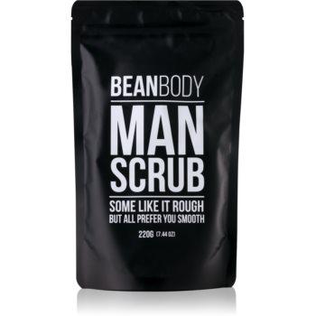 bean body man exfoliant de corp pentru matifiere pentru barbati