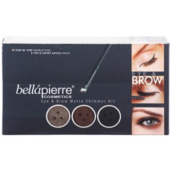 BelláPierre Eye & Brow Matte Shimmer Kit косметичний набір I. 2