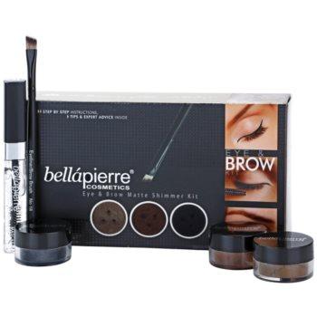 BelláPierre Eye & Brow Matte Shimmer Kit косметичний набір I.