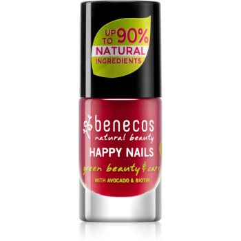 Benecos Happy Nails pflegender Nagellack Farbton Vintage Red 5 ml