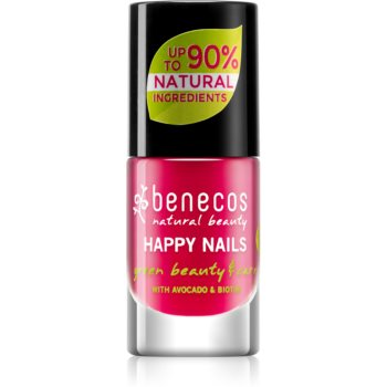 Benecos Happy Nails pflegender Nagellack Farbton Hot Summer 5 ml