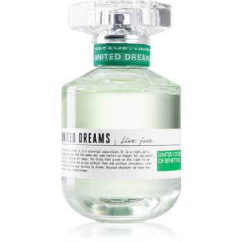 Benetton United Dreams for her Live Free eau de toilette pentru femei