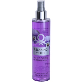 Benetton Relaxing Violet spray pentru corp pentru femei 250 ml