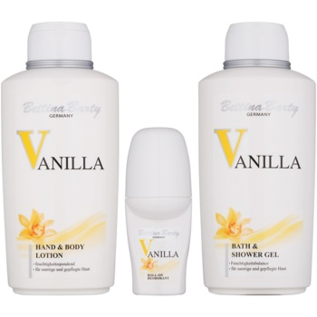 Bettina Barty Classic Vanilla set cadou II.  Gel de dus 500 ml + Lotiune de corp 500 ml + Deodorant roll-on 50 ml