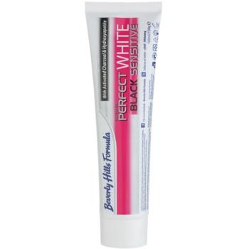 Beverly Hills Formula Perfect White Black Sensitive bělicí zubní pasta s aktivním uhlím pro citlivé zuby