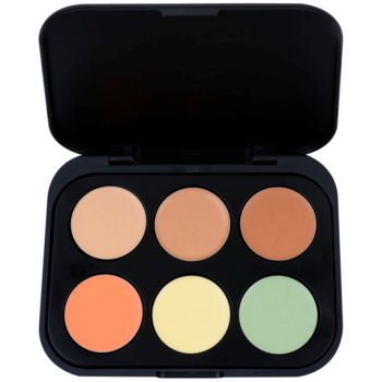 Fotografie BH Cosmetics 6 Color paleta korektorů odstín Medium 5,8 g