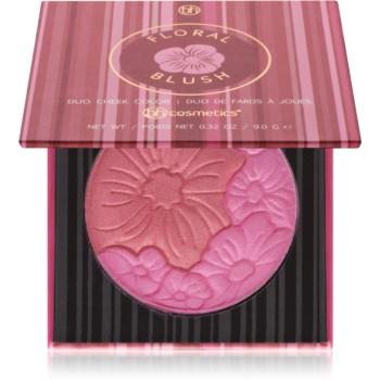 BHcosmetics Floral fard de obraz in doua culori cu oglinda mica culoare Honolulu Hideaway 9 g