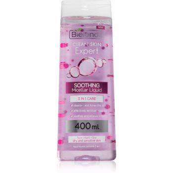 Bielenda Expert Pure Skin Soothing apa pentru curatare cu particule micele 3 in 1 imagine produs