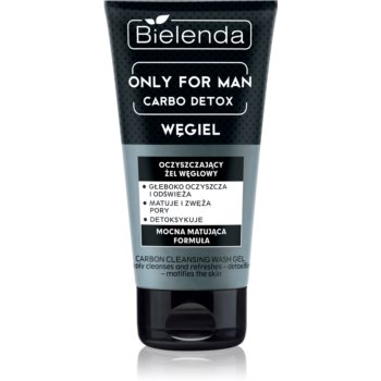 Bielenda Only for Men Carbo Detox gel matifiant de curatare pentru barbati