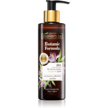 Bielenda Botanic Formula Hemp + Saffron Gel facial de curatare cu efect de hidratare imagine produs
