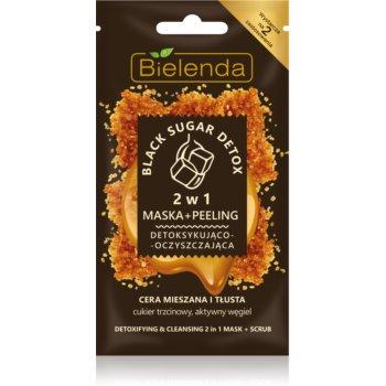 Bielenda Black Sugar Detox 2 in 1 masca detoxifianta si micro exfoliere imagine produs