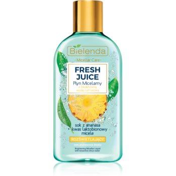 Bielenda Fresh Juice Pineapple apa cu particule micele pentru o piele mai luminoasa imagine produs