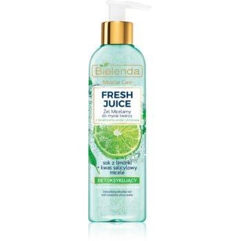 Bielenda Fresh Juice Lime gel de curatare micelar imagine produs