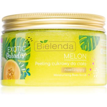 Bielenda Exotic Paradise Melon Exfoliant hidratant din zahar poza