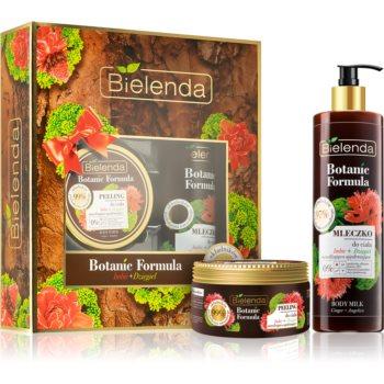 Bielenda Botanic Formula vyživující tělový peeling 350 g + hydratační a zpevňující tělové mléko 400 ml kosmetická sada