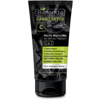 Bielenda Carbo Detox Active Carbon pasta de curatare pentru ten cu carbon activ 3 in 1