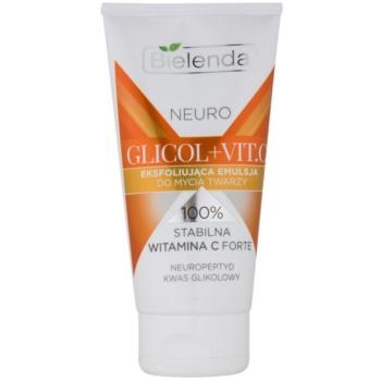 Bielenda Neuro Glicol + Vit. C gel exfoliant de curățare pentru pielea cu imperfectiuni