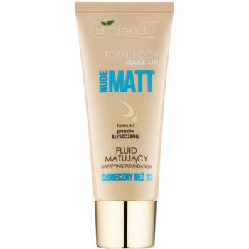 Bielenda Total Look Make-up Nude Matt make-up fluid cu efect matifiant