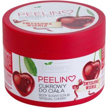 Bielenda Sensual Cherry tělový peeling s cukrem