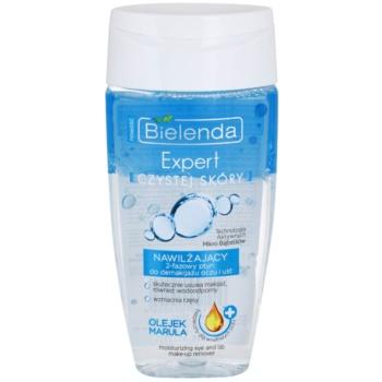 Bielenda Expert Pure Skin Moisturizing demachiant in doua faze zona ochilor si a buzelor