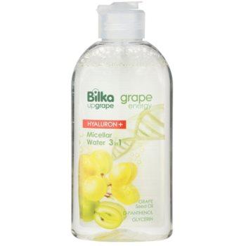 Bilka Grape Energy Hyaluron+ água micelar com ácido hialurónico 3 em 1