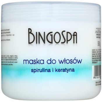 BingoSpa Spirulina & Keratin маска за фина и чупеща се коса