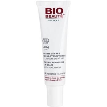 Bio Beauté by Nuxe Lips регенериращ балсам за устни с екстракт от праскова