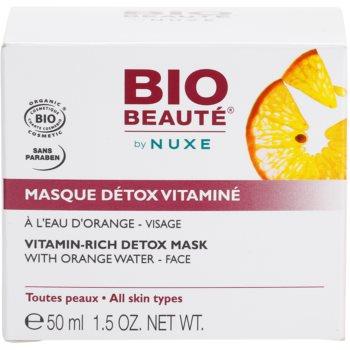 Bio Beauté by Nuxe Masks and Scrubs masca detoxifianta cu vitamine cu extras de portocala 4