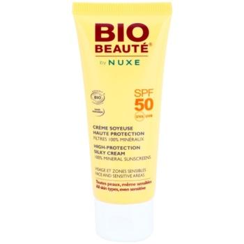 Fotografie Bio Beauté by Nuxe Sun Care minerální ochranný krém na obličej a citlivé partie SPF50 50 ml