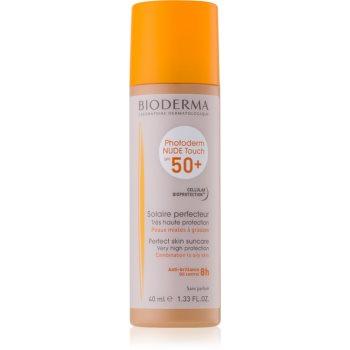 Bioderma Photoderm Nude Touch fluid tonifiant de protecție pentru piele mixtă și grasă SPF 50+