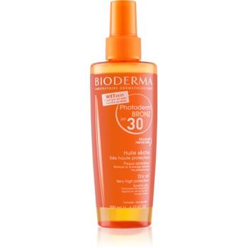 bioderma photoderm bronz spray cu ulei uscat protector spf30